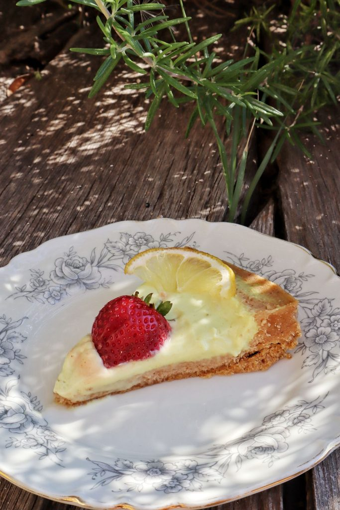 no bake lemon tart fetta
