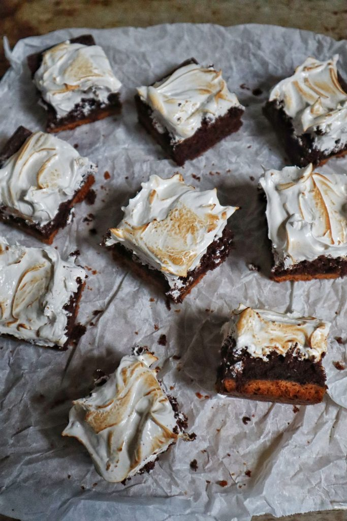 s'more brownies taglio